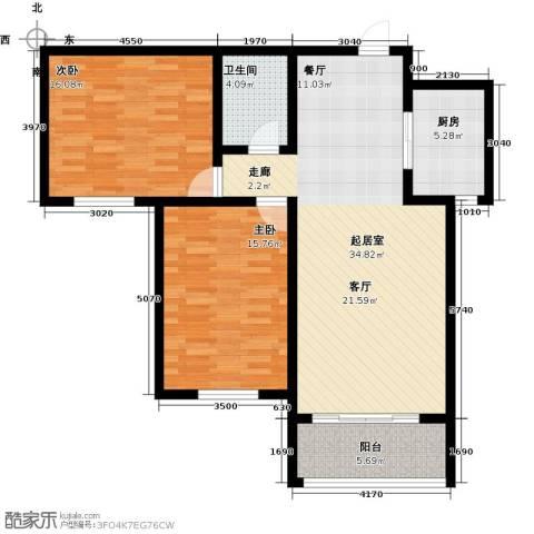 御林佳苑2室0厅1卫1厨116.00㎡户型图