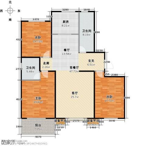 盛和嘉园3室1厅2卫1厨139.00㎡户型图