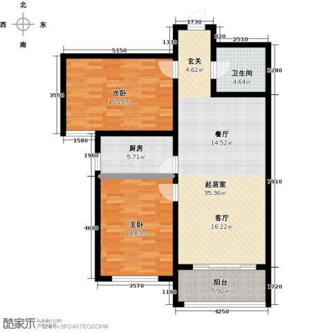 御林佳苑2室0厅1卫1厨118.00㎡户型图