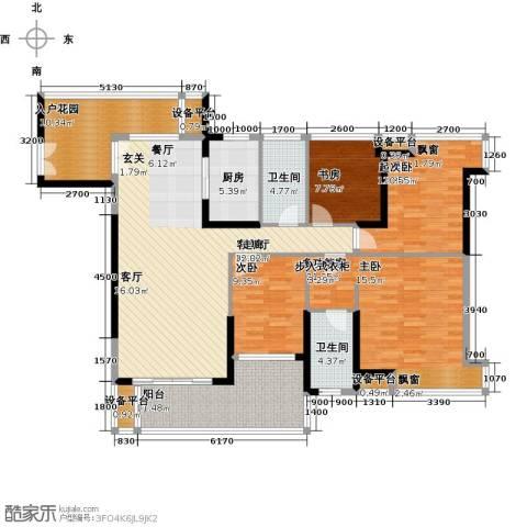 紫园2室1厅2卫1厨153.00㎡户型图