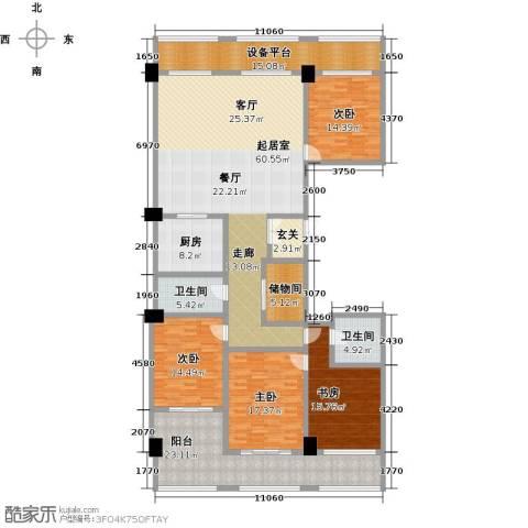 广厦丽水金城4室0厅2卫1厨226.00㎡户型图