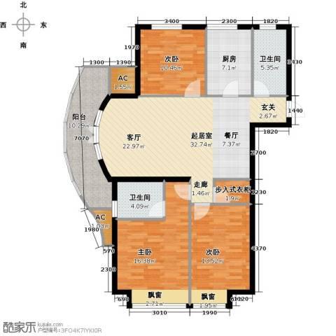 翠屏托乐嘉3室0厅2卫1厨146.00㎡户型图