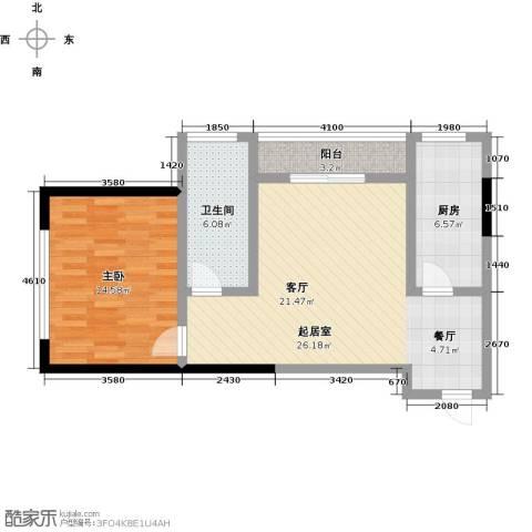 龙旺伯乐佳园1室0厅1卫1厨82.00㎡户型图