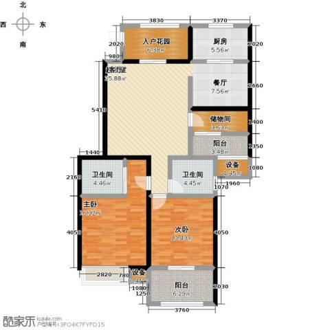 友创健康城2室0厅2卫1厨146.00㎡户型图