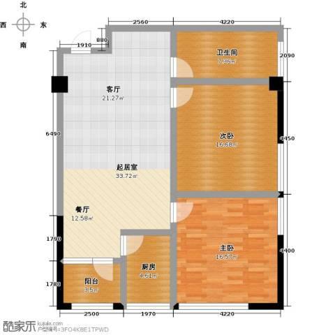 龙旺伯乐佳园2室0厅1卫1厨117.00㎡户型图