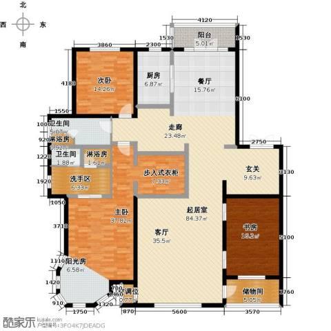 锦湖・金色世家3室0厅2卫1厨263.00㎡户型图