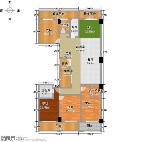 广厦丽水金城4室0厅2卫1厨228.00㎡户型图