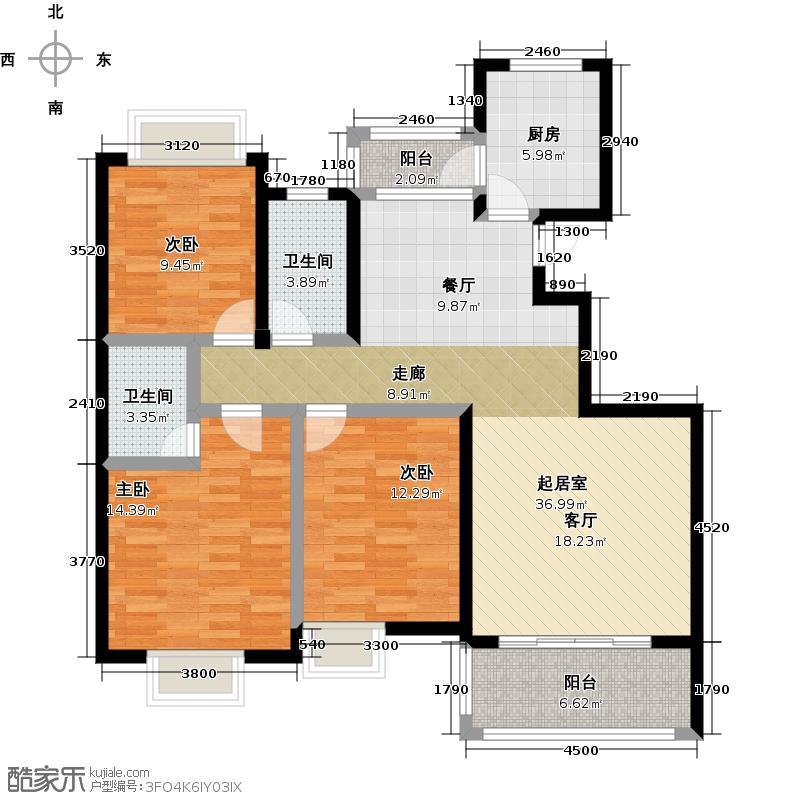 银海富都3/5栋2/3号房3#面积约129.97㎡ 5#面积约129.87㎡户型3室2厅2卫