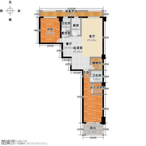 广厦丽水金城2室0厅2卫1厨147.00㎡户型图