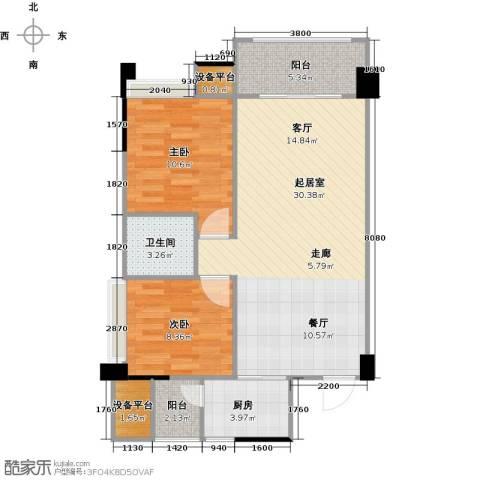 城南壹�2室0厅1卫1厨90.00㎡户型图