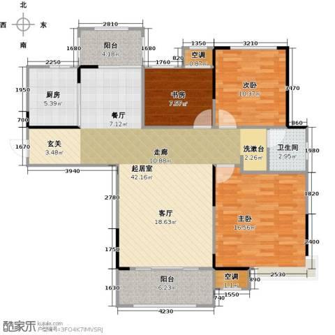 香颂小镇3室0厅1卫1厨105.00㎡户型图