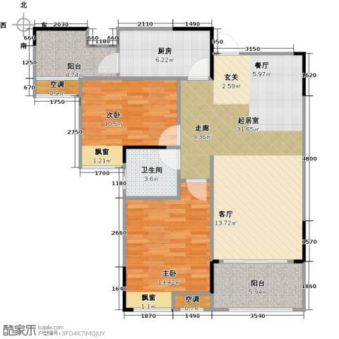 香颂小镇2室0厅1卫1厨84.00㎡户型图