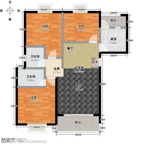 三元极第3室0厅2卫1厨100.00㎡户型图