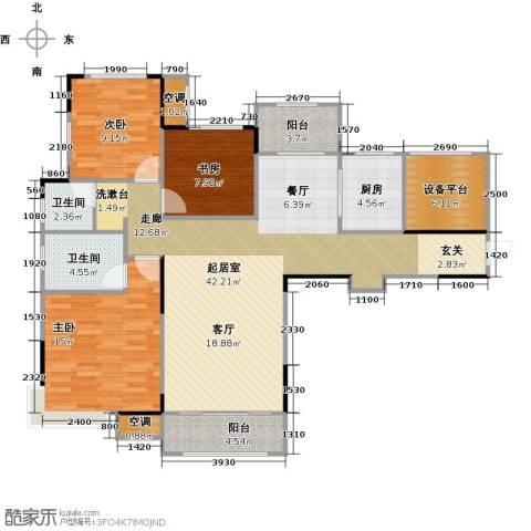 香颂小镇3室0厅2卫1厨111.00㎡户型图