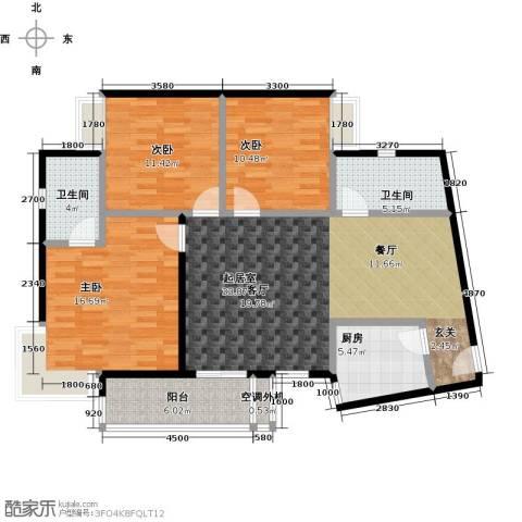 三元极第3室0厅2卫1厨108.00㎡户型图
