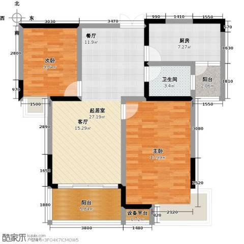 �湖世纪城2室0厅1卫1厨95.00㎡户型图