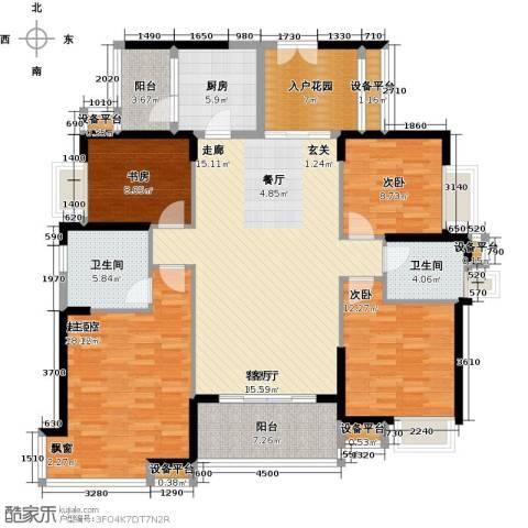 紫园3室1厅2卫1厨140.00㎡户型图