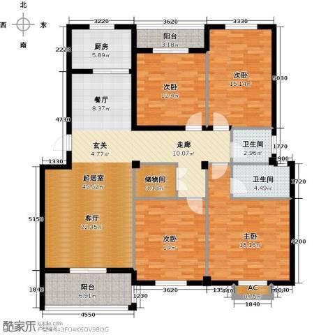 书苑小区4室0厅2卫1厨186.00㎡户型图