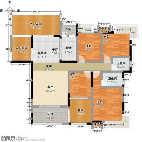 �湖世纪城4室0厅2卫1厨139.00㎡户型图