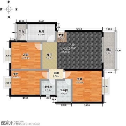三元极第3室0厅2卫1厨101.00㎡户型图