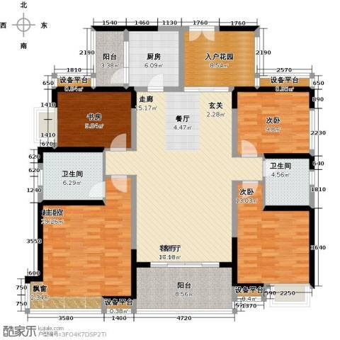 紫园3室1厅2卫1厨152.00㎡户型图