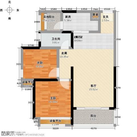 君悦黄金海岸2室0厅1卫1厨112.00㎡户型图