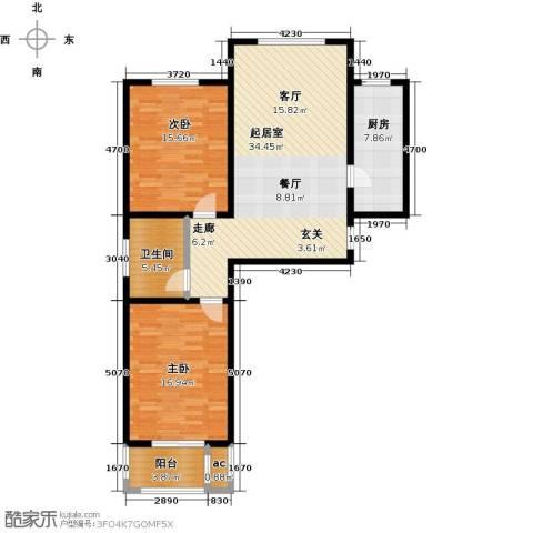 悦正碧林湾2室0厅1卫1厨98.00㎡户型图