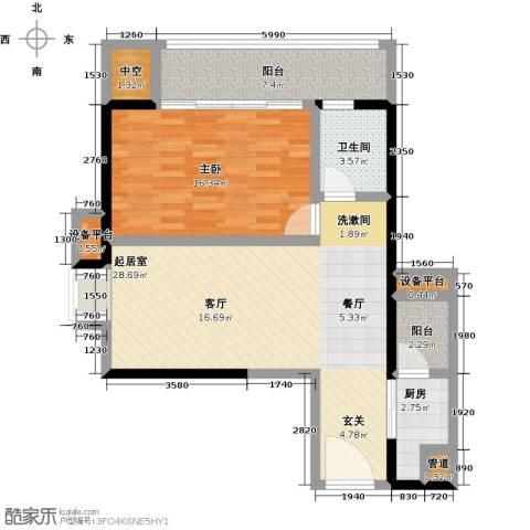 君悦黄金海岸1室0厅1卫1厨94.00㎡户型图