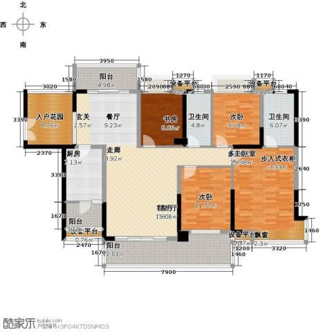紫园3室1厅2卫1厨160.00㎡户型图