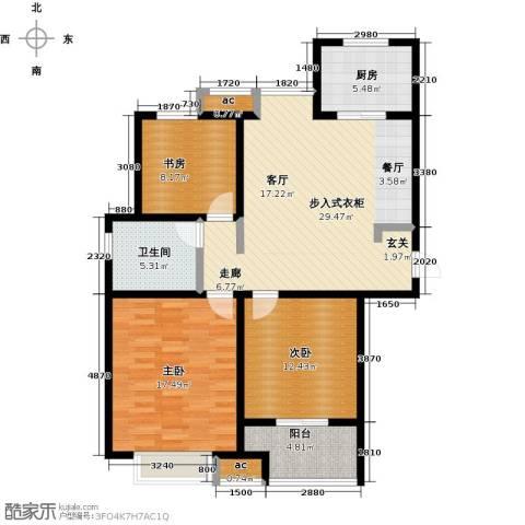 开源金桂花园3室0厅1卫1厨97.00㎡户型图