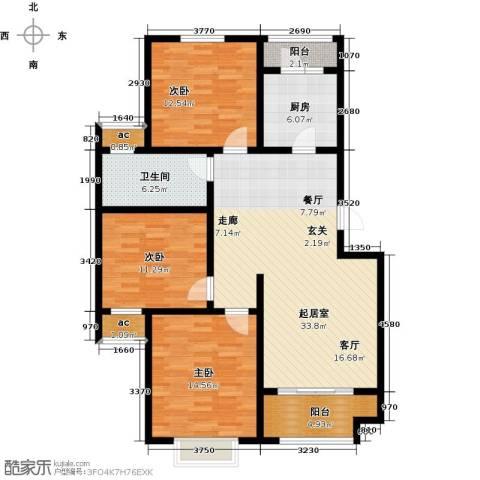 开源金桂花园3室0厅1卫1厨106.94㎡户型图