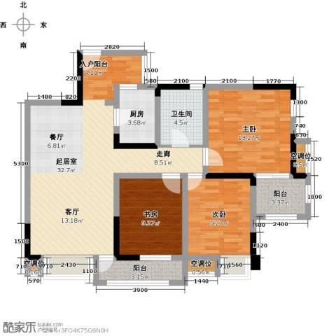 望龙东郡3室0厅1卫1厨101.00㎡户型图