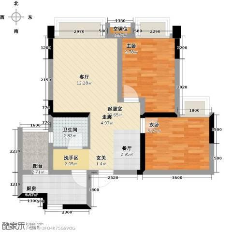 望龙东郡2室0厅1卫1厨78.00㎡户型图