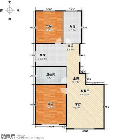 百福汇2室1厅1卫1厨132.00㎡户型图