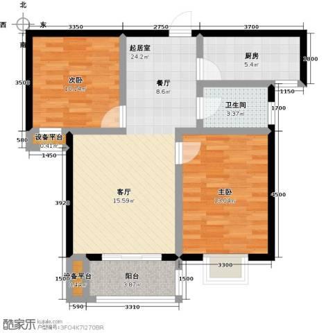米苏阳光2室0厅1卫1厨85.00㎡户型图