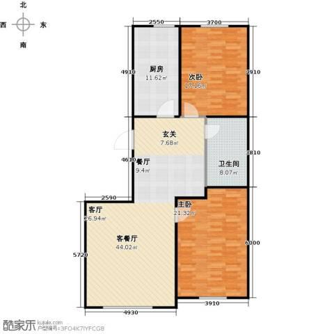 百福汇2室1厅1卫1厨135.00㎡户型图