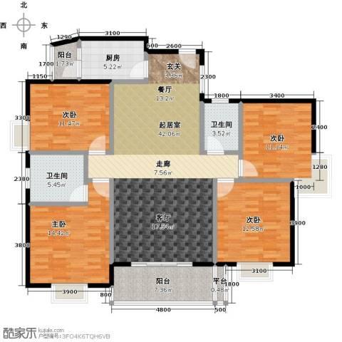 三元极第4室0厅2卫1厨136.00㎡户型图