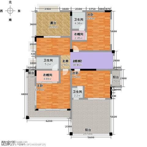 黄金海岸3室0厅3卫0厨231.00㎡户型图