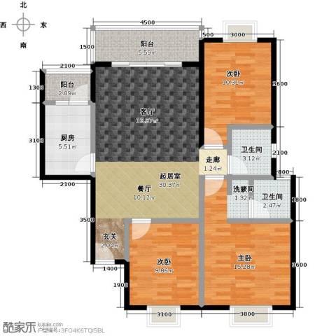 三元极第3室0厅2卫1厨104.00㎡户型图