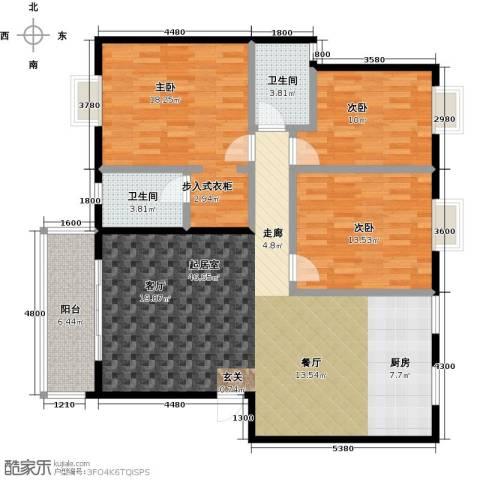 三元极第3室0厅2卫0厨120.00㎡户型图