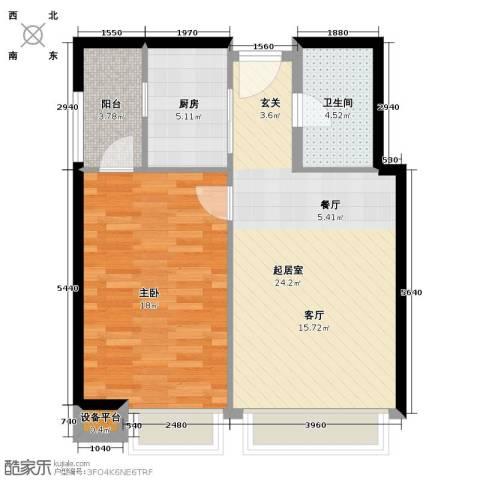 君悦黄金海岸1室0厅1卫1厨78.00㎡户型图
