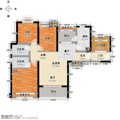 君悦黄金海岸3室0厅2卫1厨150.00㎡户型图