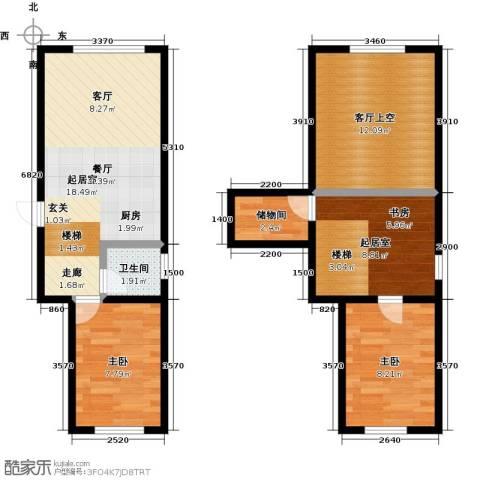 盛和湾2室0厅1卫0厨85.00㎡户型图