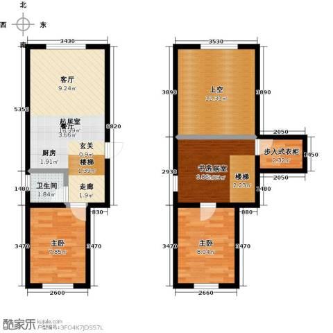 盛和湾2室0厅1卫0厨86.00㎡户型图