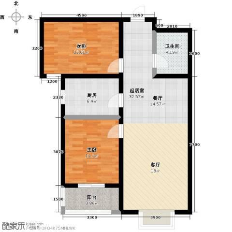 水畔明珠2室0厅1卫1厨101.00㎡户型图