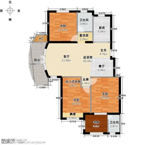 翠屏托乐嘉4室0厅2卫1厨141.00㎡户型图