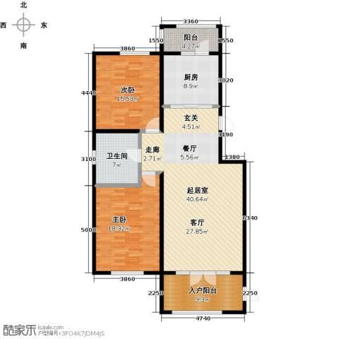 盛和湾2室0厅1卫1厨144.00㎡户型图