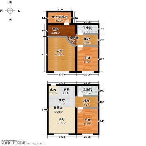 盛和湾2室0厅2卫0厨89.00㎡户型图