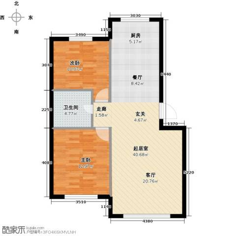 沈阳绿色家园2室0厅1卫0厨73.00㎡户型图