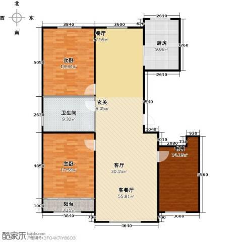 百福汇3室1厅1卫1厨169.00㎡户型图